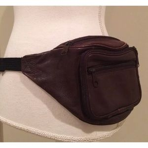 Handbags - Vintage 80s 90s Distressed Leather Fanny Pack Bag